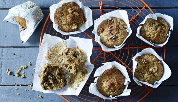 wheat germ banana bran muffins